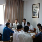 2015, Discussing cases with colleagues at Dr. Hu Zhengans clinic at Zhejiang Chinese Medical University, China
