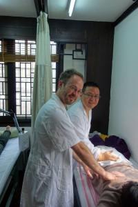 2015, My Tuina Teacher Dr. Chu Hailin and me at Zhejiang Chinese Medical University, Hangzhou, China