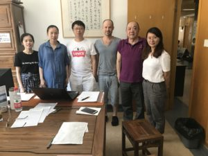 2018, Highly respected Dr. Xu Xiaodong (second from right) with some of his personal students, Zhejiang Chinese Medical University, Hangzhou, China
